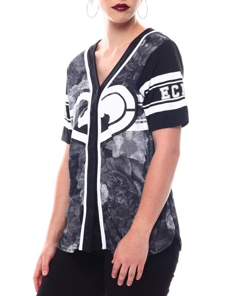 Ecko Red - Ecko Baseball Jersey W/Glitter Hear
