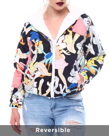 Members Only - Members Only X Looney Tunes -Faux Fur Reversible Jacket