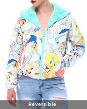cartoons-pop-culture - Members Only X Looney Tunes -Faux Fur Reversible Jacket-2566498