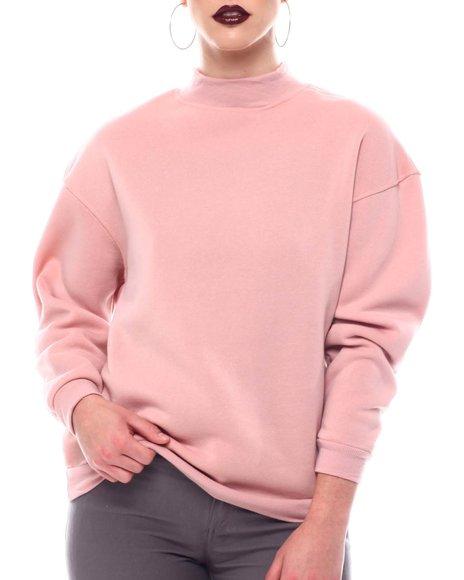 Fashion Lab - Fleece Back Sweat Shirt Top