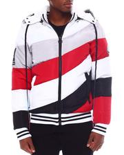 Men - Asymmetrical Colorblock Puffer Coat w Hood-2567444