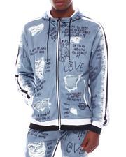 Light Jackets - Distressed Graffiti Hoody-2567202