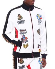 Track Jackets - Racing Patch and Leopard Track Jacket-2567207