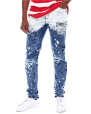 Jeans & Pants - Two Tone Ombre Jean with Splatter Detail-2566779