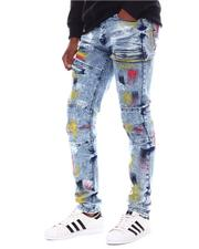 Jeans - Colored Cloud  Brush Stroke Jeans-2566863