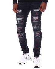 SWITCH - Pop of Color Distressed Moto Jean-2567047