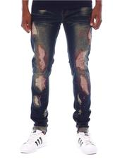SWITCH - COLOR STITCHED DENIM PANTS W/SPLATTER Detail-2567065