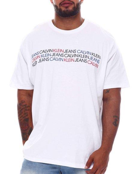 Calvin Klein - Tri Color Logo T-Shirt (B&T)