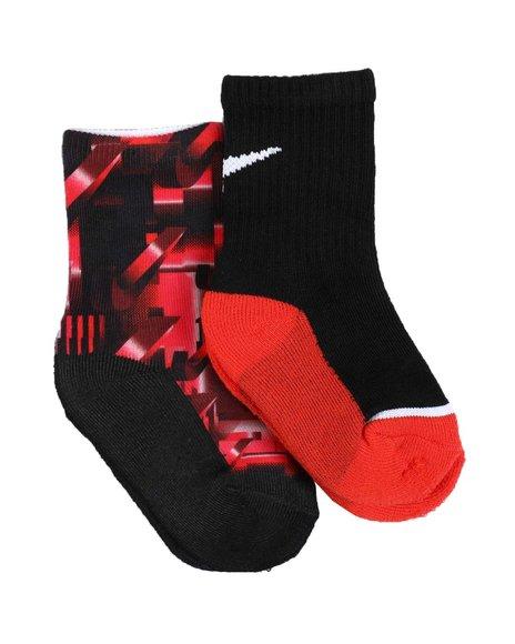 Nike - 2 Pack Niketron Crew Socks (7C-10C)