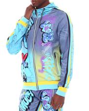 Light Jackets - Marble and Graffiti Hoodie-2567217