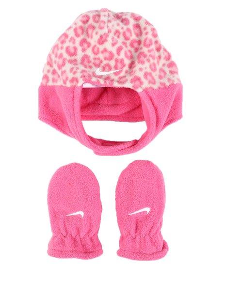 Nike - Swoosh Baby Trapper Hat & Gloves Set (Infant)