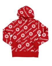 All Over Script Logo Hoodie (8-20)