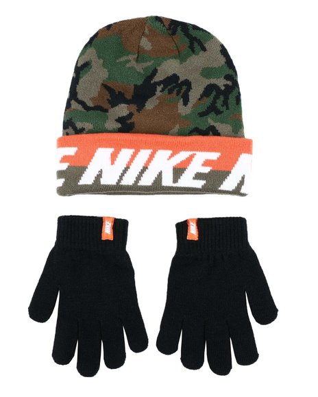 Nike - Youth Word Mark Beanie & Gloves Set