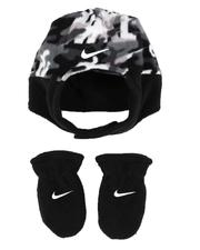 Accessories - Swoosh Baby Trapper Hat & Gloves Set (Infant)-2561950