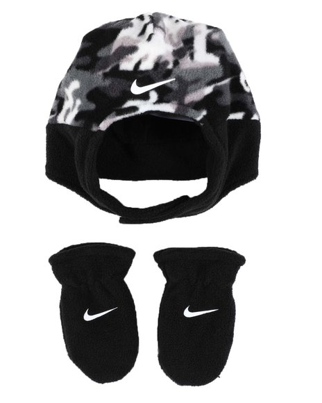 Nike - Swoosh Baby Trapper Hat & Gloves Set (Infant)