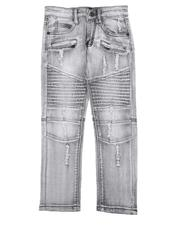 Jeans - Distressed Moto Jeans (4-7)-2565222