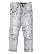 Bottoms - Distressed Moto Jeans W/ Zipper Detail (2T-7)-2565240