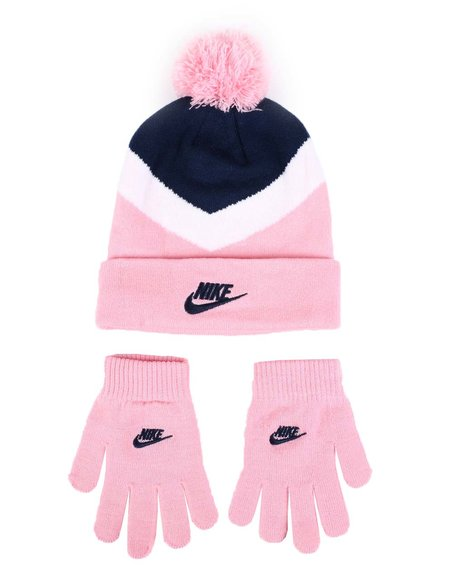Nike - Youth NSW Blocked Beanie & Gloves Set