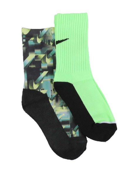 Nike - 2 Pack Niketron Crew Socks (10C-3Y)
