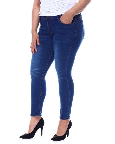 Fashion Lab - Plus Mid rise Whisker Super Soft Rayon Jeans