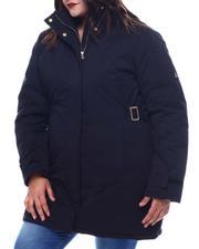 Fashion Lab - Plus Anorak Jacket W/Faux Fur Hoodie-2565837