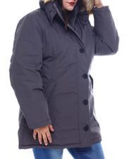 Fashion Lab - Plus Anorak Safari W/Faux Fur Hoodie-2565846
