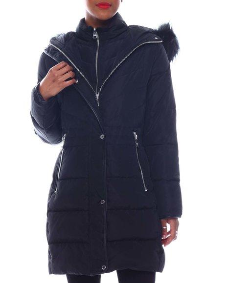Karl Lagerfeld - Fur Hooded Long Puffer
