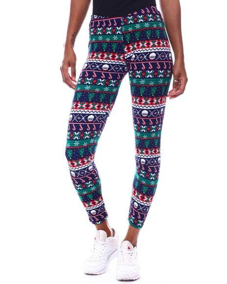 Fashion Lab - Fleece Lined Printed Leggings