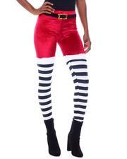 Bottoms - Plush Velvet Printed Legging-2566223