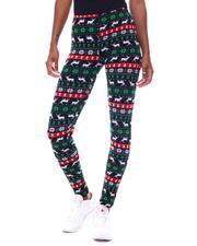 Bottoms - Fleece Lined Printed Leggings-2566238
