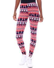 Bottoms - Fleece Lined Printed Leggings-2566255