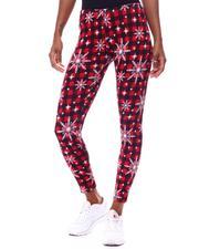 Bottoms - Fleece Lined Printed Leggings-2566273