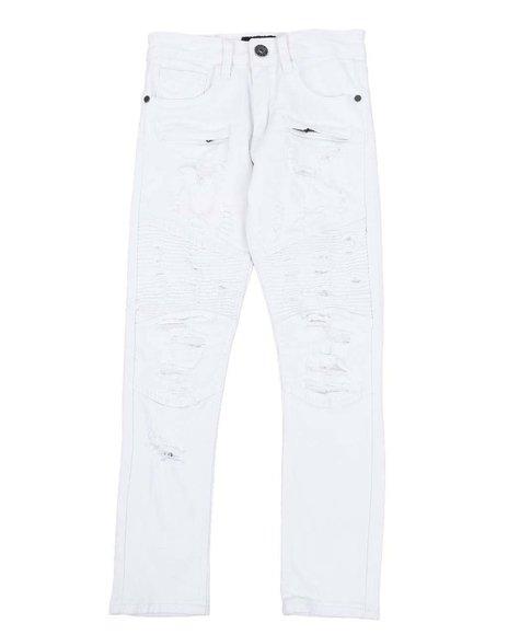 Arcade Styles - Distressed Moto Jeans (8-20)