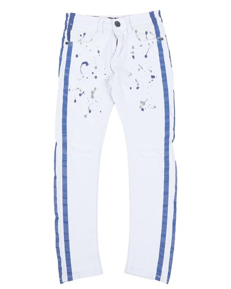 Arcade Styles - Taped Paint Splatter Distressed Jeans (8-20)