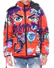 Buyers Picks - Anime Eyes Puffer Coat w Hood-2567996