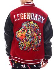 SWITCH - Lion Embroidered Varisty Jacket-2568045