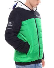 Fall-Winter - Colorblock Jacket w Zip up  Goggle Hood-2567973