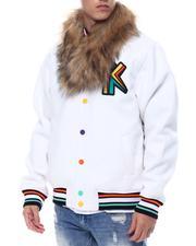 Ultimate King Varsity Jacket w Faux Fur