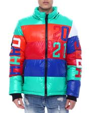 Outerwear - COLOR BLOCK PUFFER JACKET-2568015