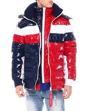 Fall-Winter - Contrast Pattern Dbl Zipper Puffer w Hood-2568422