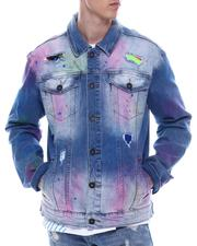 Fall-Winter - DENIM JACKET W/ MULTI COLORS SPRAY-2558995