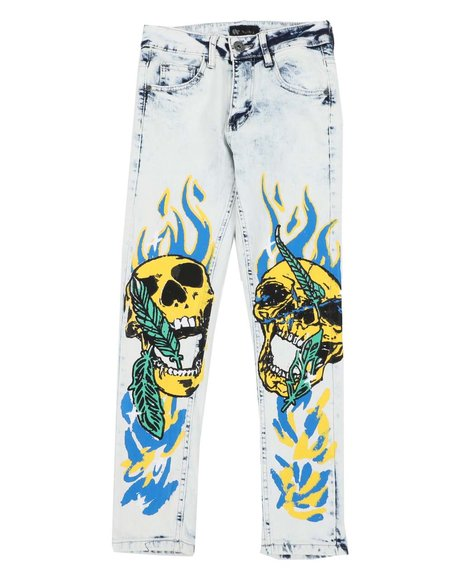 Arcade Styles - Skull & Flames Jeans (8-20)
