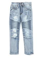 Arcade Styles - Moto Ripped Jeans (2-7)-2568697