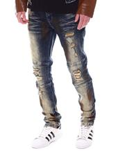 Fall-Winter - RIP & REPAIR/ FAUX LEATHer Distressed Jean-2567906