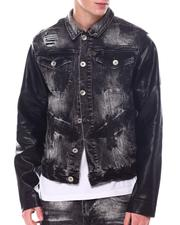 Fall-Winter - RIP & REPAIR/ FAUX LEATher Denim Jacket-2567753