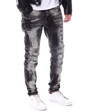 Fall-Winter - RIP & REPAIR/ FAUX LEATHer Distressed Jean-2567887