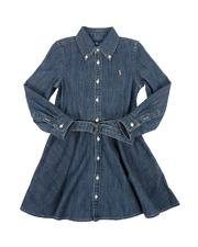 Polo Ralph Lauren - Long Sleeve Denim Shirt Dress W/ Self Belt (4-6X)-2565903