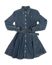 Polo Ralph Lauren - Long Sleeve Denim Shirt Dress W/ Self Belt (7-16)-2565908