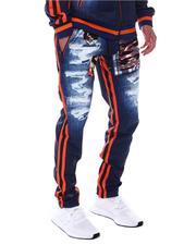 Joggers - Distressed Denim Look Camo Patch Jogger-2567162