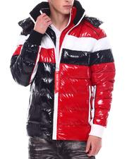 Fall-Winter - Contrast Pattern Dbl Zipper Puffer w Hood-2568451